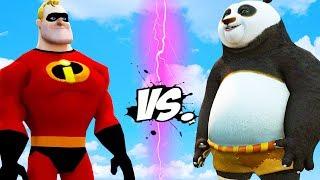 kung fu panda vs the incredibles mr incredible vs po