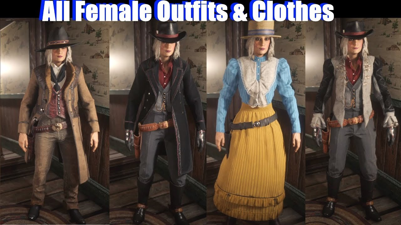 Rdr2 Online Female Clothing Girl Fashion Names Fashion Girl Club The Fashion Clothes For Women