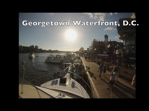 Time Lapse of Boats and a Sunset at the Georgetown Waterfront in Washington, DC