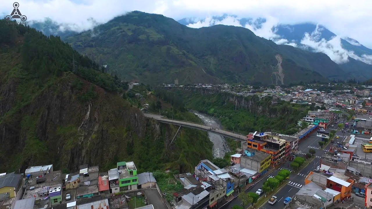 Ba os de Agua Santa Landscape drone Ecuador Dron