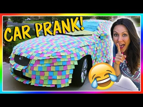 😱STICKY NOTE PRANK ON DAD'S CAR!😱 | We Are The Davises