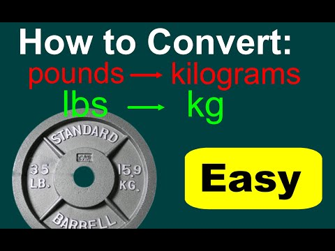 Converting Lbs To Kg Lbs To Kg Conversion Youtube