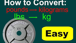 Converting lbs to kg (lbs to kg conversion). Conversions of pounds to kilograms.
