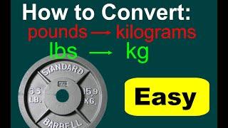 Converting Lbs Kg Lbs Kg Conversion