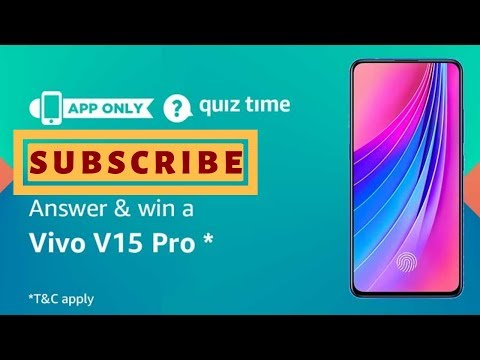 AMAZON QUIZ Answers Today Win Vivo V15 Pro | 17 March