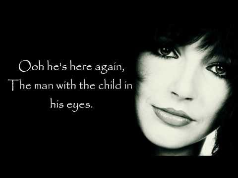 Kate Bush - The man with the child in his eyes (Lyrics on screen)
