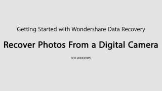 How to use wondershare data recovery to recover Deleted Photos