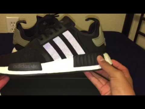 Adidas nmd r1 nero / cargo (w / in piedi) su youtube