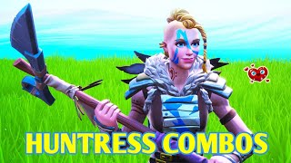 Fortnite - BEST HUNTRESS SKIN COMBOS & BEST Weapon Wrap!