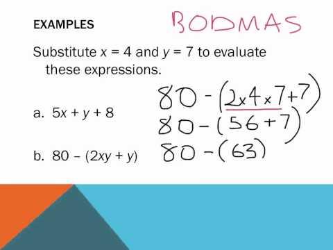 Year 7: Substitution Algebra