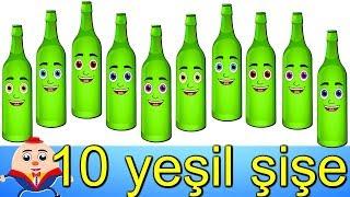 Duvarda Asılı 10 yeşil şişe  Balon TV  şişe şarkısı  Bebek şarkıları 2020
