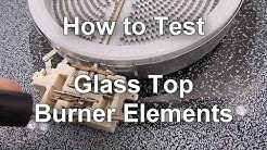 Glass Top Stove Repair - Top Burner Not Working - How to Troubleshoot and How it Works