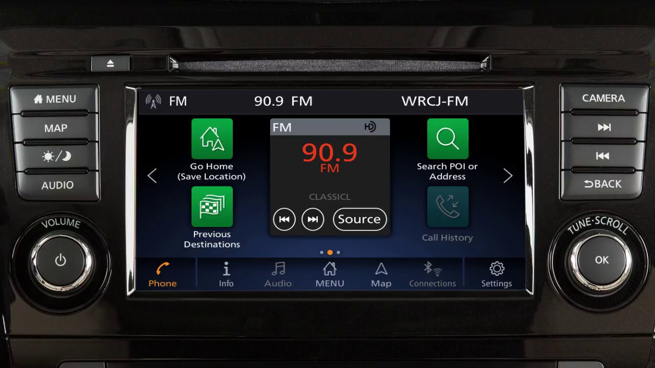 2018 Nissan Rogue - Control Panel and Touch Screen ...