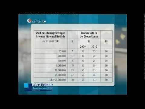 Erbschaftsteuer - Schenkungsteuer - Steuerberater Aachen Jörg Reimer bei Center TV