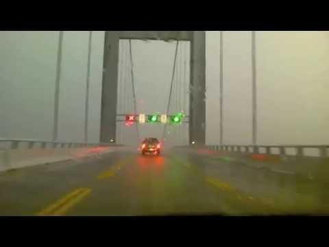 Horrible Storm hits while crossing Chesapeake Bay Bridge