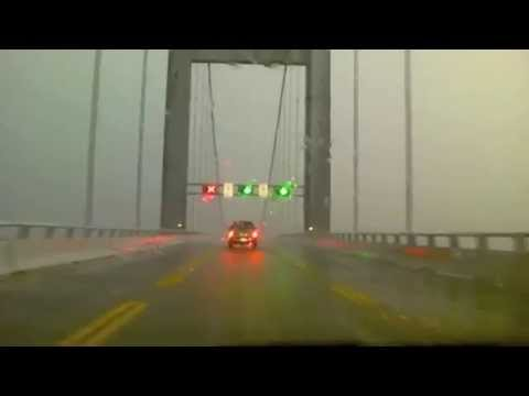 Horrible Storm hits while crossing Chesapeake Bay Bridge