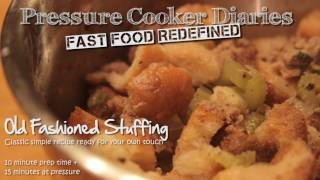 Recipe For Stuffing - Homemade Stuffing With Sausage In A Pressure Cooker