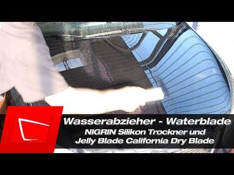 Jelly Blade California Dry Blade Sonax Nigrin Auto trocknen Dry Waterblade im Test Slikon Trockner