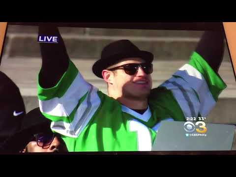PHILADELPHIA EAGLES PARADE SUPERBOWL 52 LII CHAMPIONSHIP SPEECHES FROM ART MUSEUM 2/8/2018 PHILLY