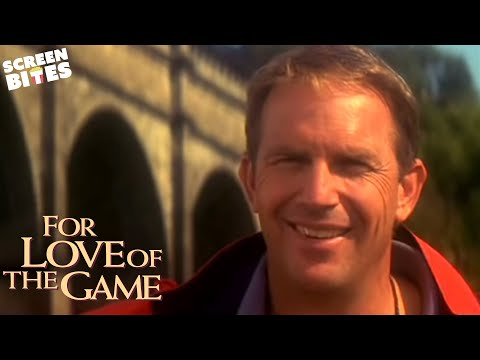 For Love Of The Game:  Billy (Kevin Costner) impresses Jane (Kelly Preston) by trying to be 'manly'