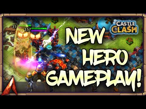 Castle Clash New Hero Michael Gameplay! Archangel OP!