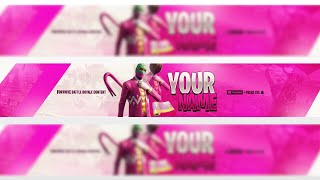 [FREE] GFX FORTNITE YOUTUBE BANNER HOPPER SKIN! DOWNLOAD EDITABLE
