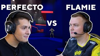 Flamie and Perfecto from NAVI try out the BLAST Performance Map! Who gets the best score?