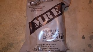 MRE Review - Menu No 15 - Mexican Style Chicken Stew