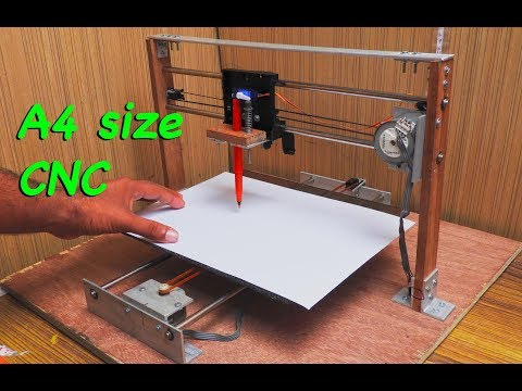 Make a A4 SIZE CNC_ Through the old printer parts  (part 1)