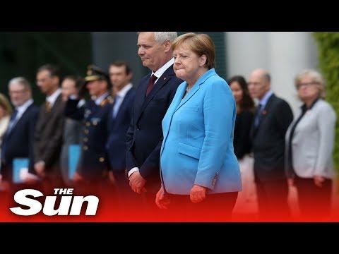 Angela Merkel shaking for third time in as many weeks
