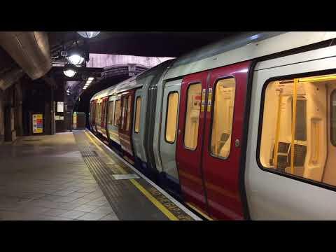 London Underground S8 Stock Metropolitan Line Train Departing Great Portland Street for Uxbridge