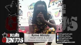 Ryme Minista - Heart Mind & Soul [Reggae Island Riddim] January 2015