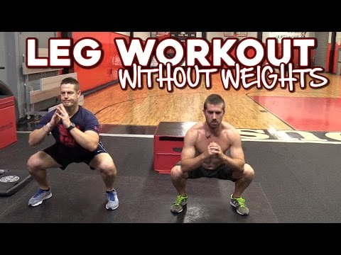 Leg Workout without Weights | 6 Exercises for Strong Legs