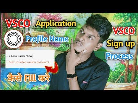Vsco Application Me User Name Kaise Fill Kare। Vsco Sign up Process