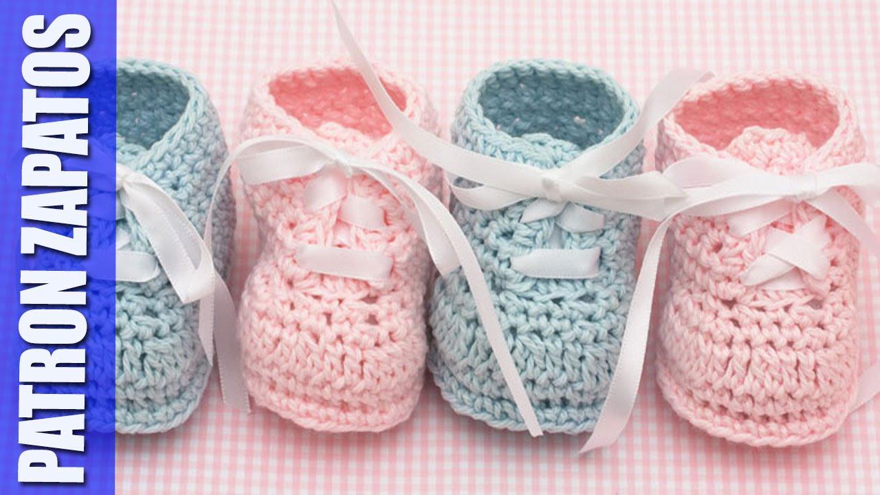 Bonito Patrón De Crochet Libre Para Los Zapatos De Bebé Imagen ...