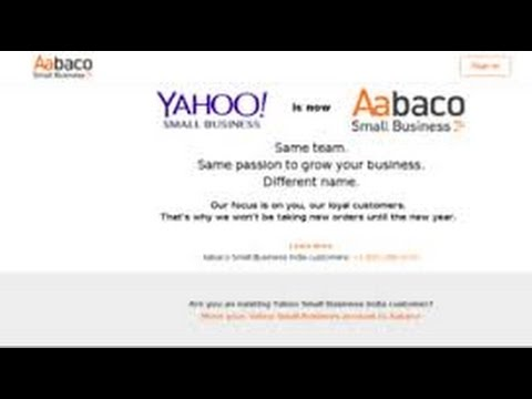 HOW TO USE SMALLBUSINESS YAHOO WEB 2016