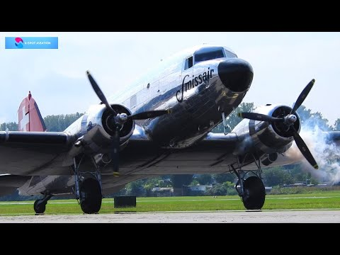 Worldwide Planespotting from nice and scenic airports incl. Swissair DC-3 !!!