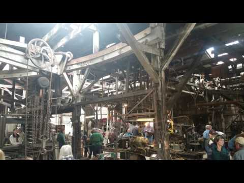 Overall View of Knight Foundry Machine Shop w/ Line Shafts Running