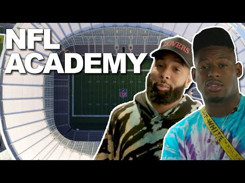 Odell Beckham Jr. & Juju Smith-Schuster Visit the NFL Academy