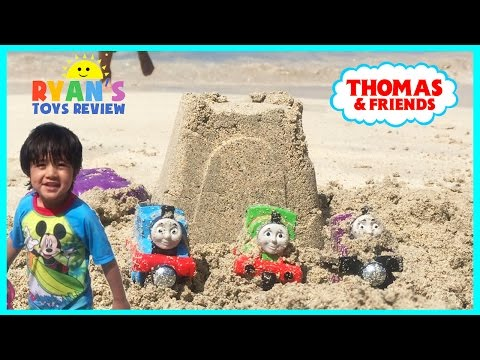 Thumbnail: Thomas and Friends Surprise Toys in the sand at the Beach Toy Trains for Kids Family Fun Trip