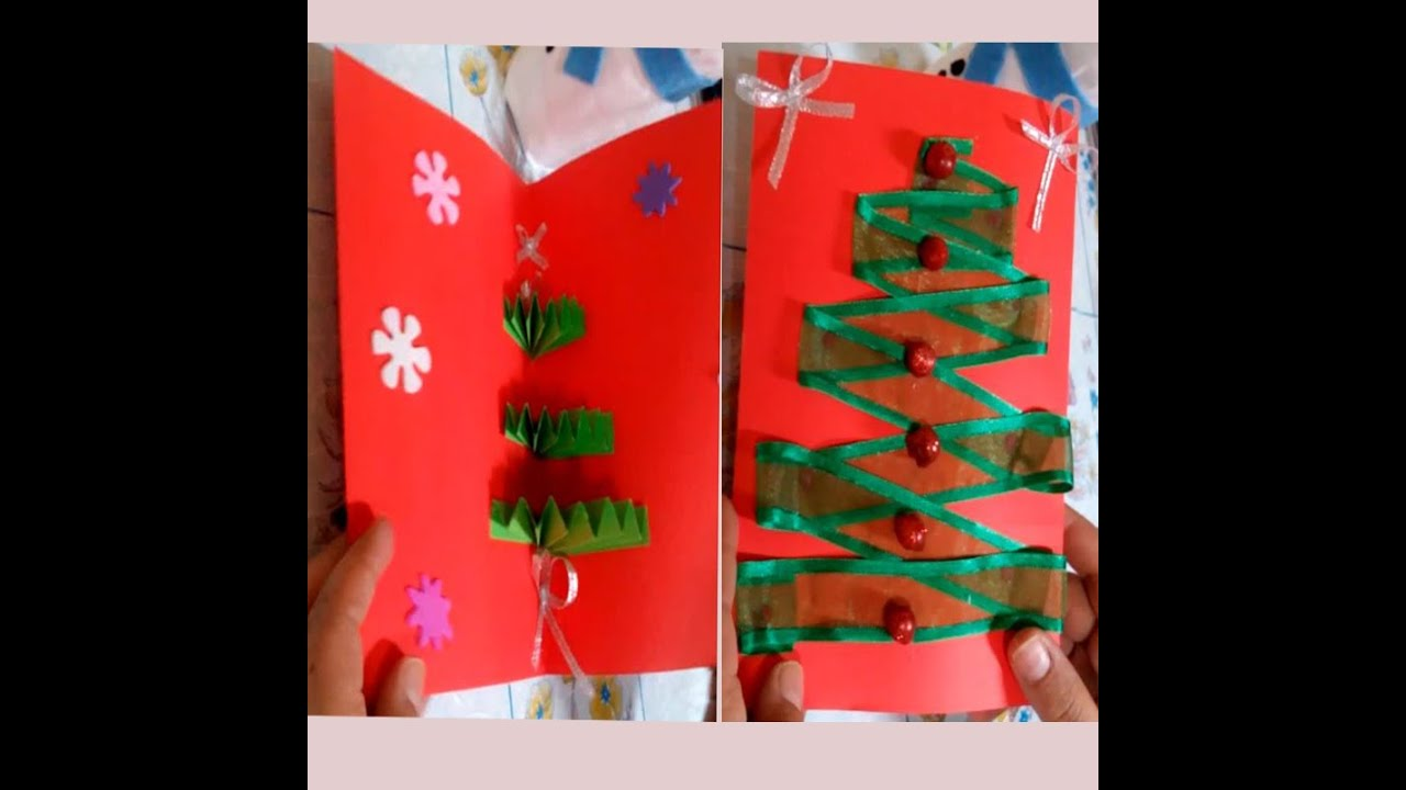 How to make an easy christmas tree pop up greeting card diy how to make an easy christmas tree pop up greeting card diy tutorial youtube m4hsunfo
