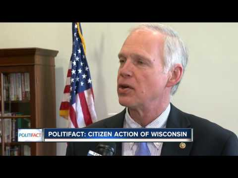 PolitiFact Wisconsin rates claim over Senator Ron Johnson's cease and desist letter