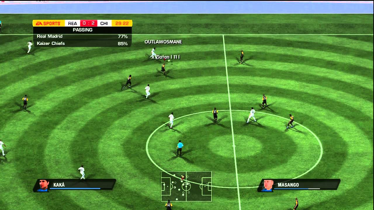 Fifa 11 L Kaizer Chiefs Vs Real Madrid L Ranked H2h L Part 1 Youtube