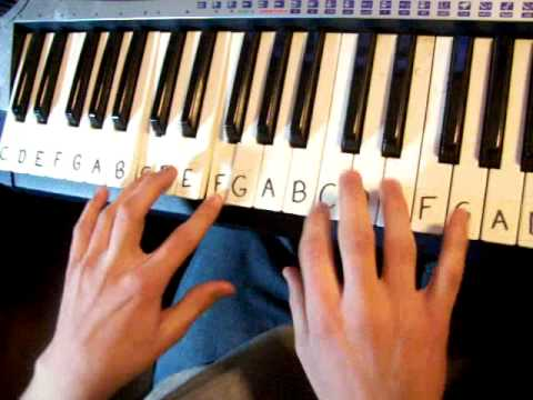 Boston by Augustana Piano Tutorial (Beginners)