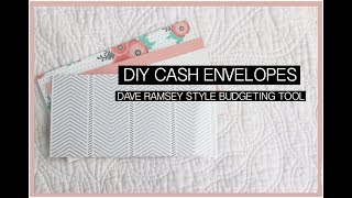 DIY Cash Envelopes | Budgets, Dave Ramsey Inspired