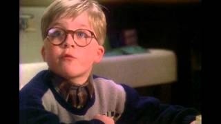 In this scene from a christmas story, ralphie shows his hand when mom asks him what he wants for christmas. spoke too soon.