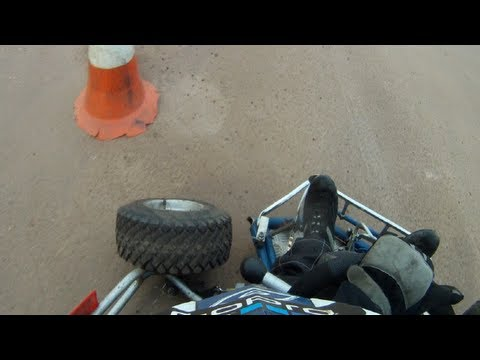 GoPro HD: Third Race WHEEL Falls whilst Racing! - Norfolk Arena 11.08.12