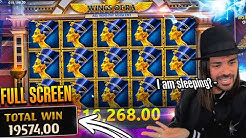 ROSHTEIN Full Screen Win  on Wings of Ra slot - TOP 5 Mega wins of the week