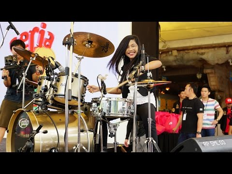 Mark Ronson - Uptown Funk ft. Bruno Mars LIVE Drum Cover by Nur Amira Syahira