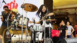 Mark Ronson Uptown Funk Ft Bruno Mars LIVE Drum Cover By Nur Amira Syahira